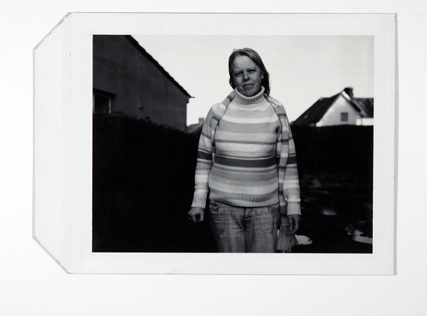 Polaroid from the making of Assisted Self-Portrait of Angela Wildman, Residency, 2006–2008.